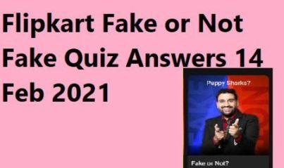 Flipkart Fake or Not Fake Quiz Answers 14 Feb 2021