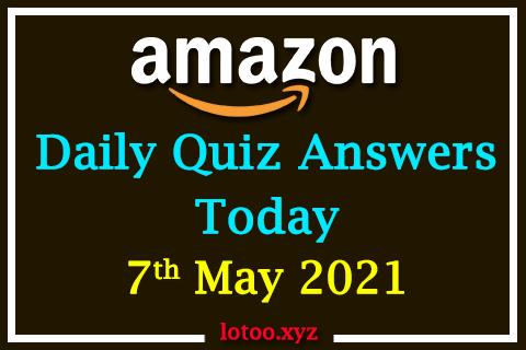 amazon daily quiz 07 05 21