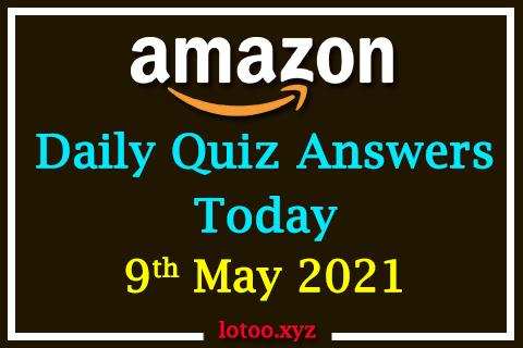amazon daily quiz 09 05 21