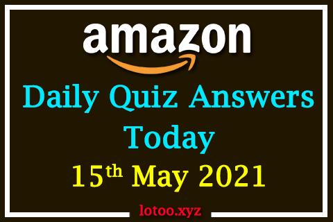 amazon daily quiz 15 05 21